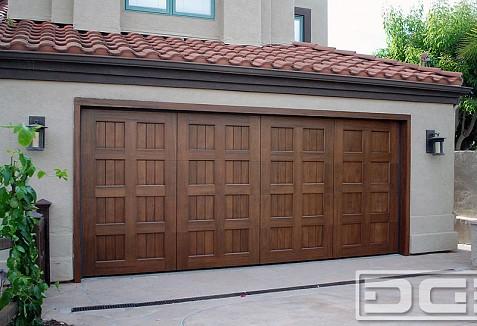 Custom Made Mediterranean Style Garage Doors In Solid