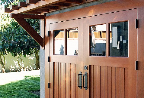 Real Wood Carriage Garage Door Ideas With Matching