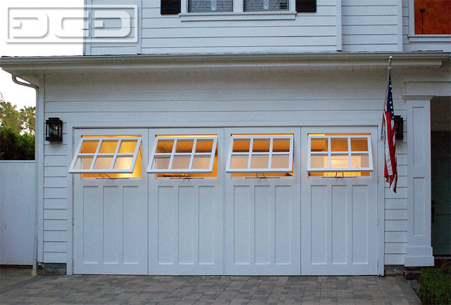 custom made out swing carriage garage doors with functional