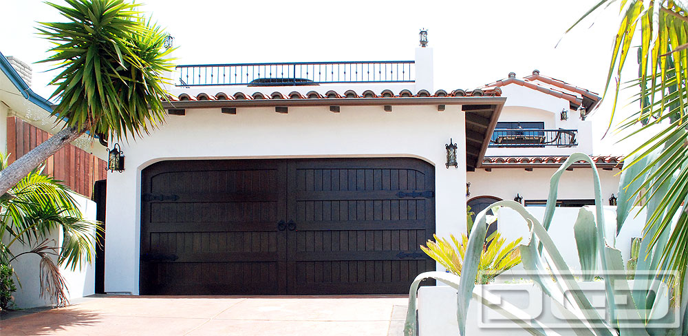 Spanish Colonial Wood Garage Doors Custom Made In Orange
