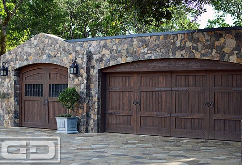 Tuscan Architectural Wood Garage Doors In Solid Wood