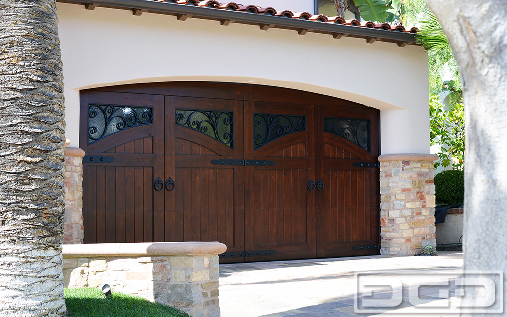Custom Made French Mediterranean Style Garage Doors for Newport
