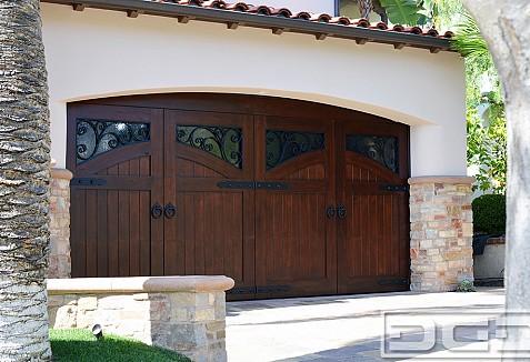 Authentic French Mediterranean Wood Garage Door Manufacturer In Oc