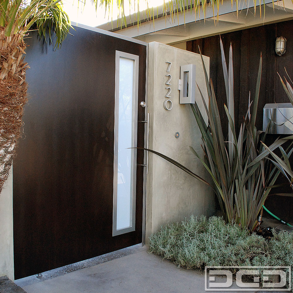 Custom Designed Mid Century Style Gates Handcrafted In