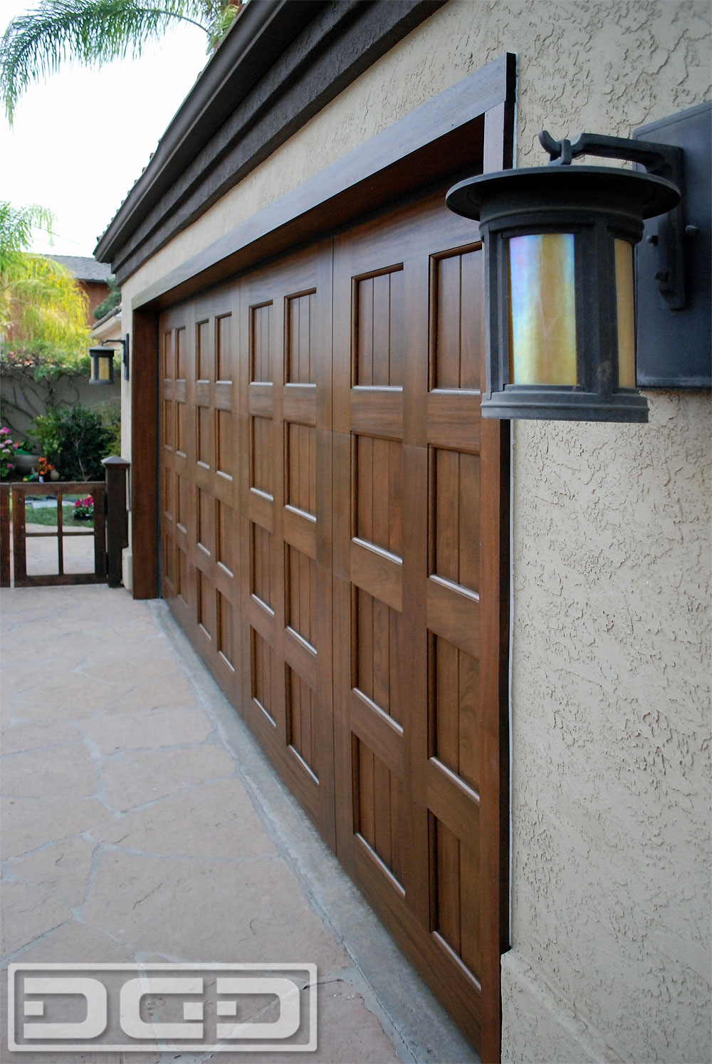 Mahogany Custom Made Garage Door
