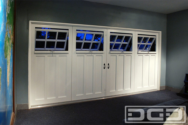 Inside View of a Carriage Garage Door