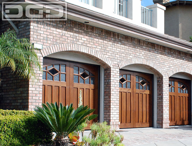 Custom Garage Door Diamond Windows