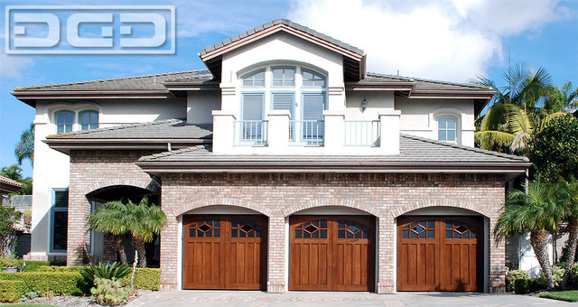 Solid Wood Carriage Style Garage Doors