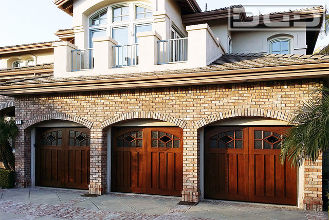 High Quality Mahogany Garage Doors