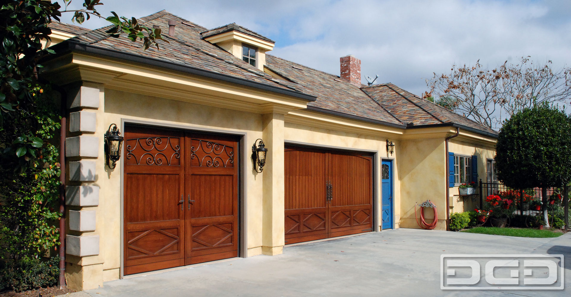 Authentic French Style Garage Doors