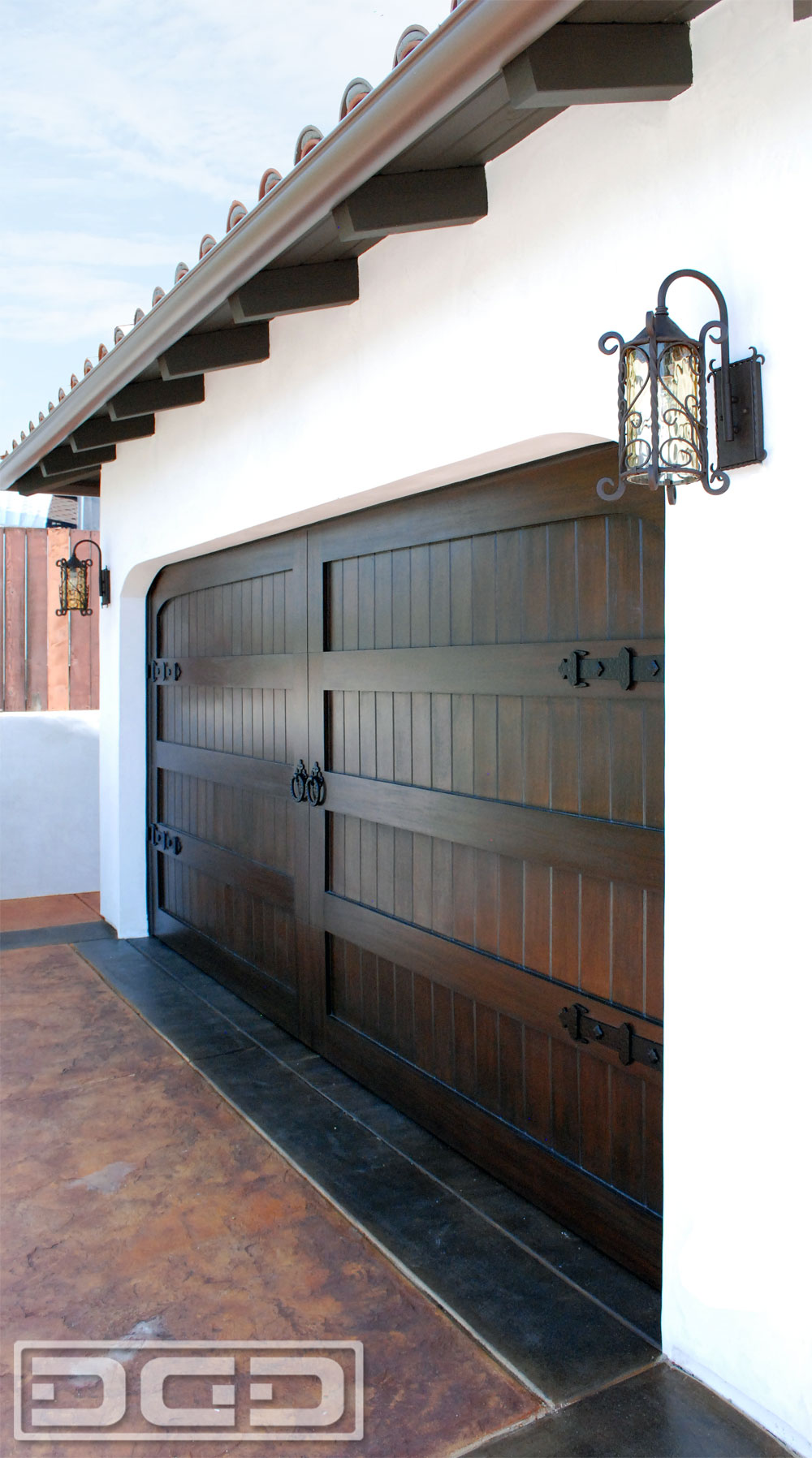 Spanish Colonial Style Garage Doors
