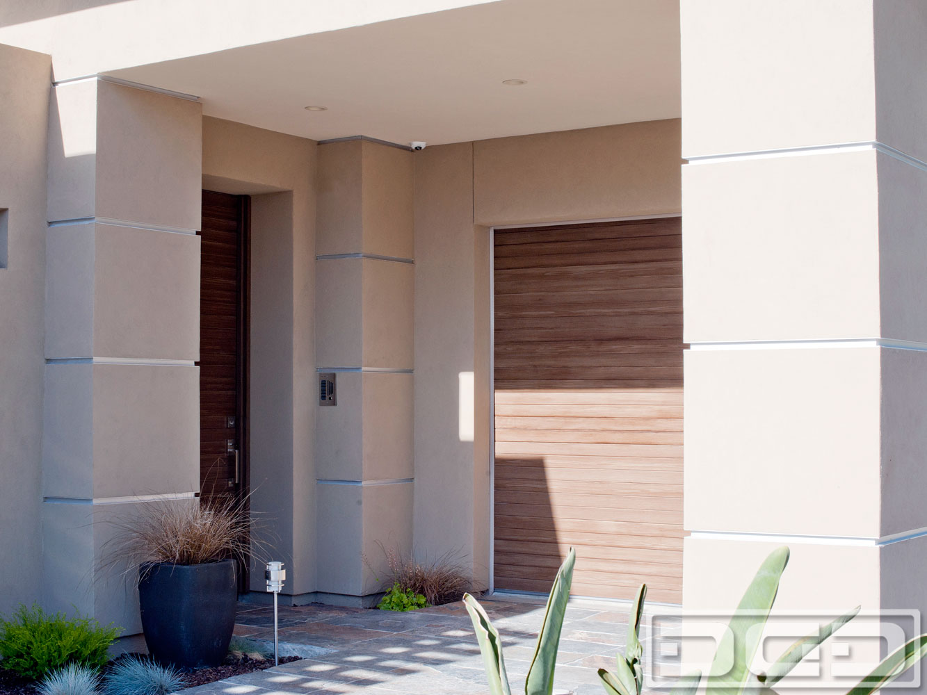 Modern Garage Door & Matching Door