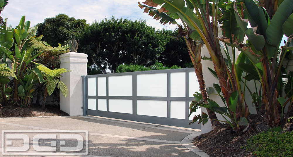 Glass Garage Doors In A Anodized Aluminum Frame Amp White