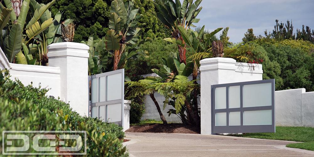Modern Style Electric Driveway Gates
