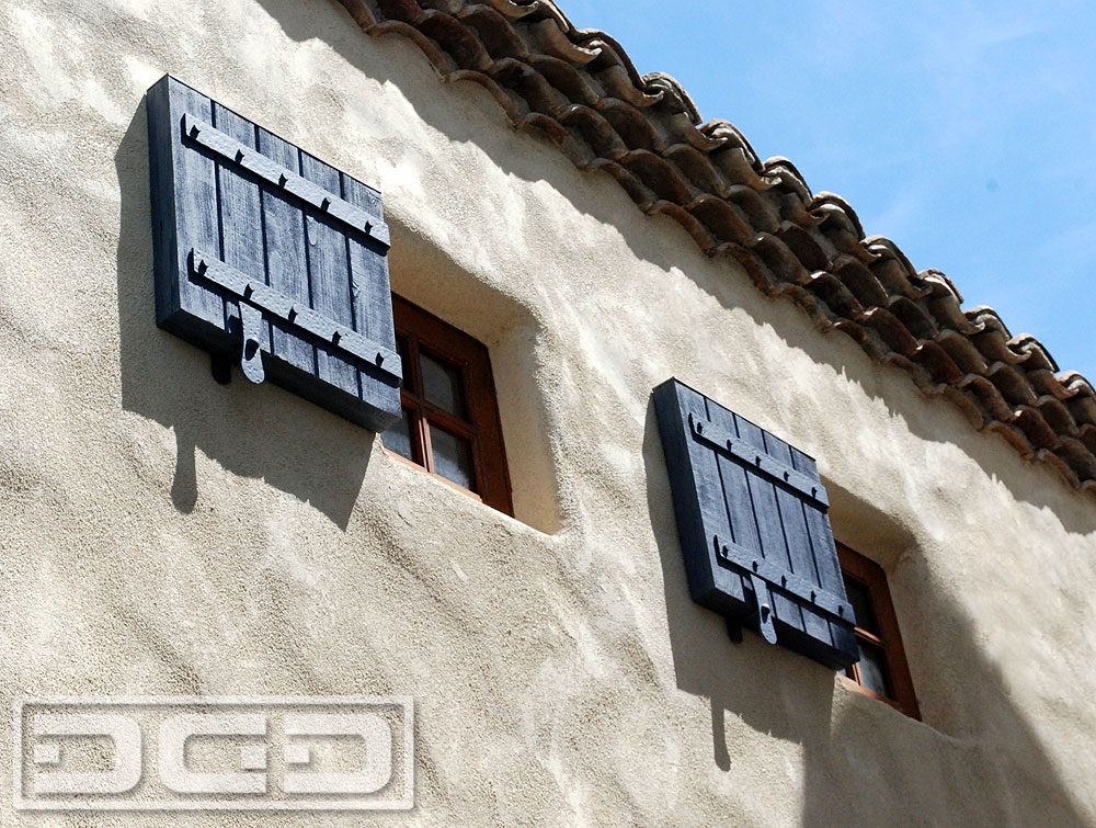 Blue Custom Designed Exterior Shutters
