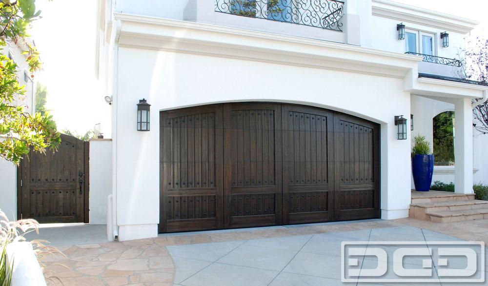 Distressed-Wood Spanish Garage Doors