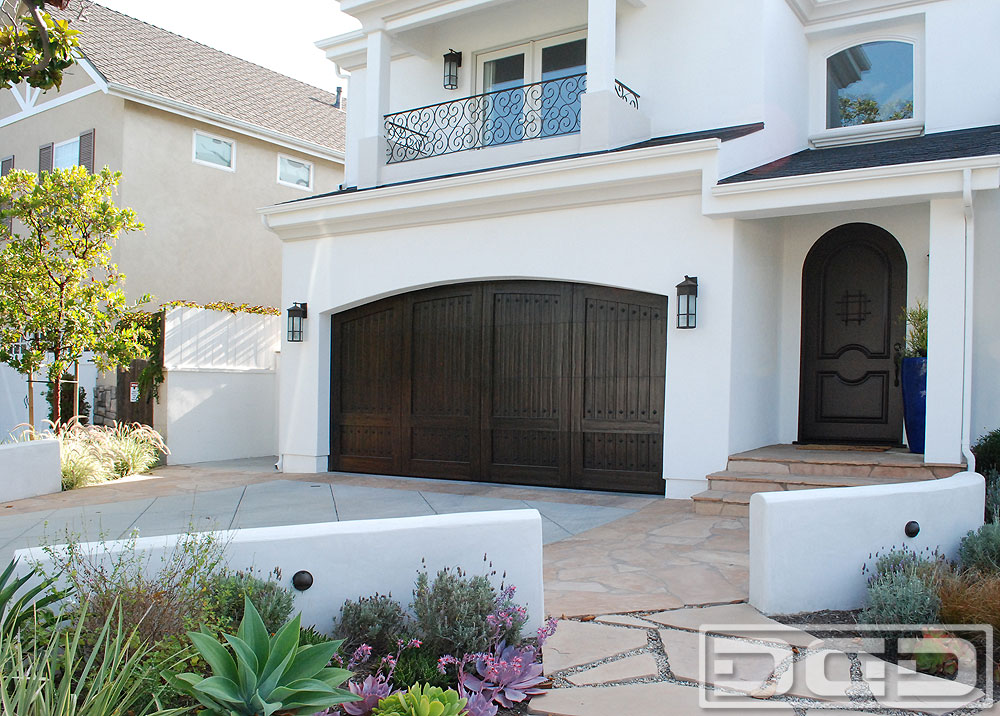 Custom Spanish Mediterranean Garage Doors Matching Entry Doors