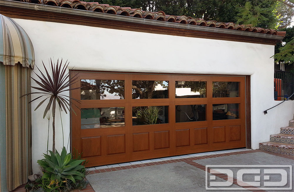Modern Spanish Style Wood Garage Door