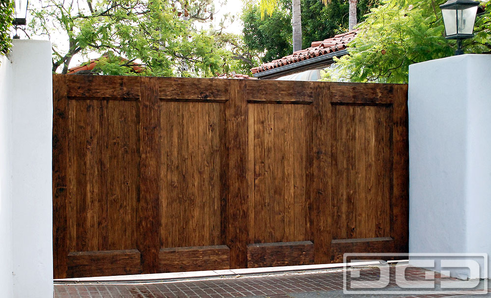 Rustic Spanish Colonial Driveway Gates Custom Made In Los