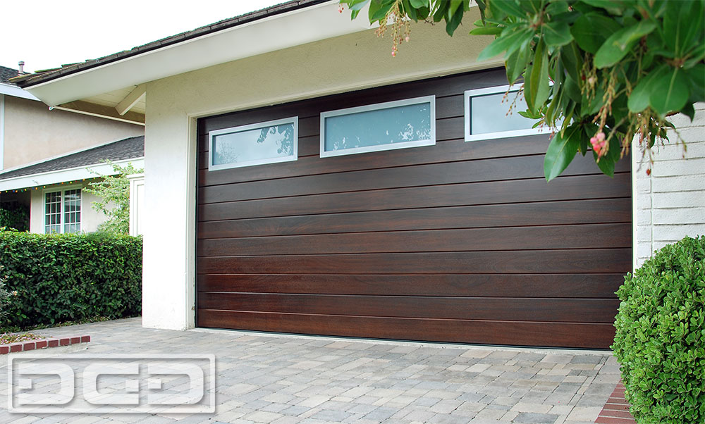 Custom Modern Wood Garage Door in LA