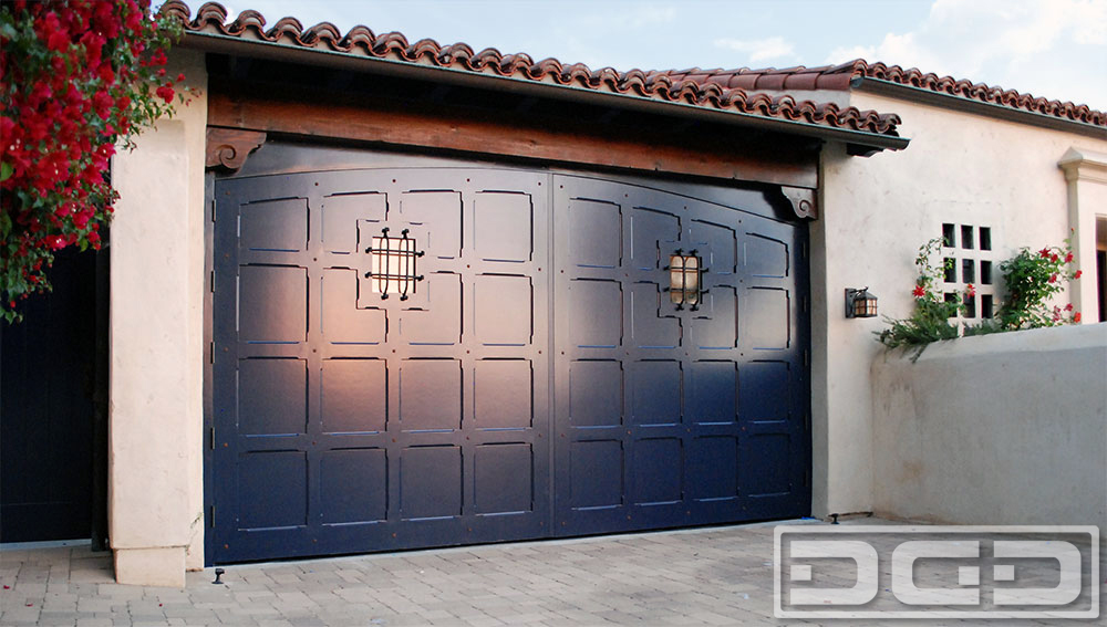 Spanish Colonial Carriage Doors Real Out Swing Garage Door