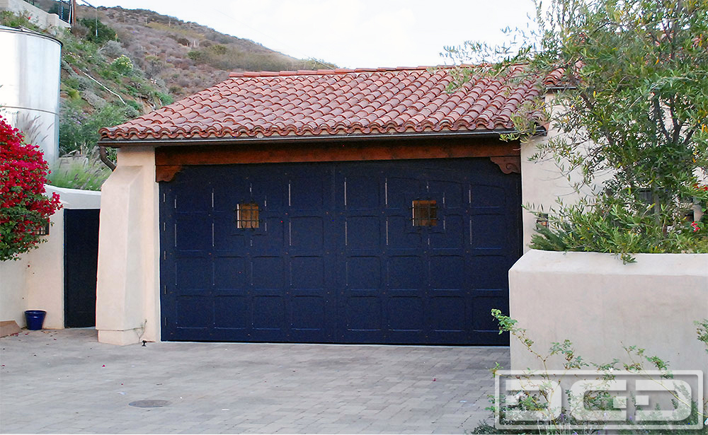 Spanish Colonial Carriage Doors Real Out Swing Garage