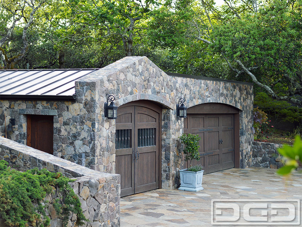 Authentic italian style custom wood garage doors made in Italian garage doors