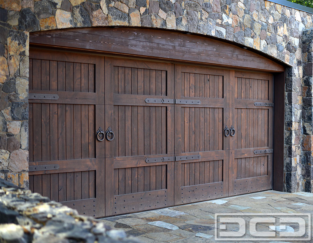 Sonoma ca custom made tuscan garage door automatic for Wood looking garage doors