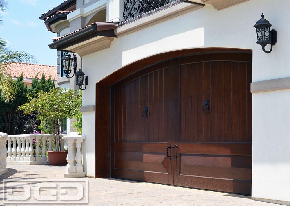 Custom Wood Garage Doors In Authentic Mediterranean
