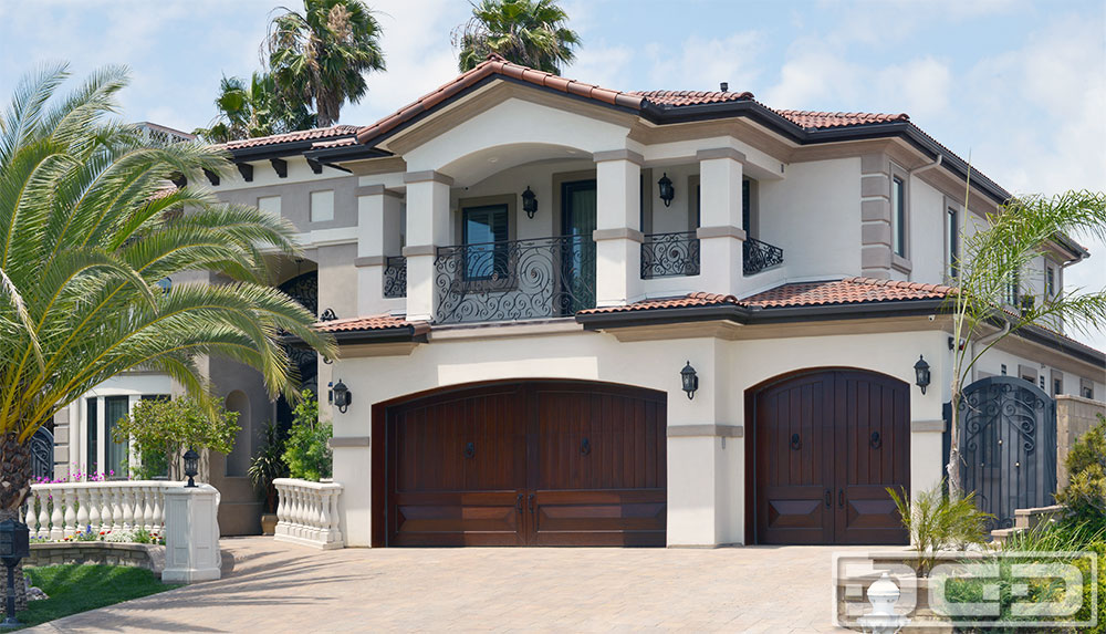 Unique Mediterranean Style Garage Doors For Custom Built