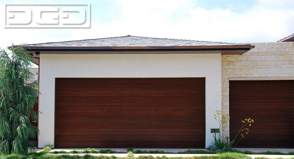 Custom Wood Manufactured Modern Garage Doors For Luxury