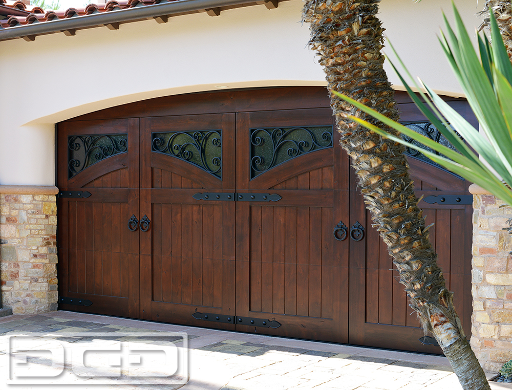 Captivating A Mediterranean Garage Door Design