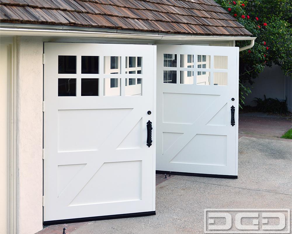 Dynamic garage door projects custom made carriage style garage door conversion in los angeles ca rubansaba